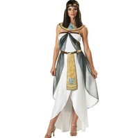 Brand New 2013 Autumn Winter Halloween Greek Goddess Costumes Adult Egypt Queen Arab Girls Fancy Sexy Dress Cosplay White  J1144