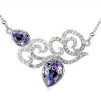 Beautiful good quality  hearted necklace for women gift and wholesale free shipping