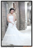 Free Shipping Wholesale Hip Pack Fishtail Gown Wedding Dress 2013