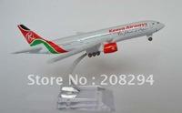 Wholesale Free Shipping, B777-200 Kenya,metal airplane models,airplane model, airbus prototype machine