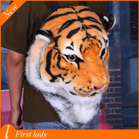 Backpacks High Quality Plush Women Backpacks 3D Tiger Head Larger Volume Girl School Bag Printing  Zipper  Fashion  Bag B067