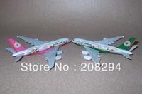 Free Shipping 2 pcs/lot EVA Air A380,metal airplane models,airplane model, airbus prototype machine