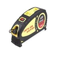 Wholesale Free Shipping New LV05 Laser Level 18 FT/5.5m Measure Tape Horizontal Vertical Line Ruler Aligner