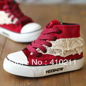 2013 autumn denim high child  shoes skateboarding shoes single shoes female child boys shoes