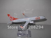 Wholesale Free Shipping,5 pcs/lot B737-800 GOL Brazil ,metal airplane models,airplane model, airbus prototype machine