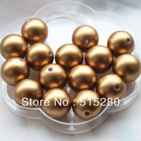 20mm Antique Brass Acrylic Pearl Beads Chunky Gumball Beads 120pcs/lot A58
