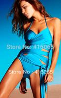 2015 New Arrival Super Fashion Sexy  Swimwear Swimsuit Suit Bikini  Monokini Bathing Suit Blue Pink 2 Colors S M L