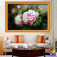 Illusiveness peony diy diamond painting cross stitch flower diamond series rhinestone pasted painting