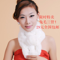 The whole network rabbit fur tube scarf fur muffler scarf rabbit fur collar fur rabbit fur muffler scarf