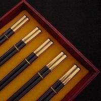 Alloy chopsticks double gift box gift stainless steel dinnerware set