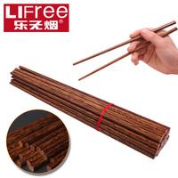 Music smokeless wenge chopsticks mahogany dinnerware set oille paint wax double set