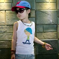 2013 summer boy boys clothing baby child T-shirt sleeveless vest tx-1577