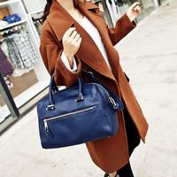 Hot sell Mahel zipper smiley bags 2013 new female autumn BOSS portable women's high quality  handbag free shipping