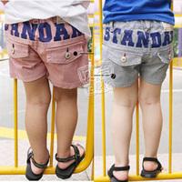2013 summer pocket boys clothing girls clothing baby child short trousers kz-0886