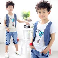 2013 summer vest 2 boys clothing baby child short-sleeve T-shirt tx-1403