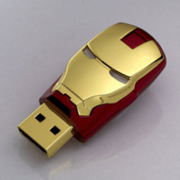 Wholesale -  2gb 4gb 8gb 16gb 32gb avengers iron man USB Flash Drive pen drive memory stick with LED light drop free shipping
