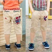 2013 summer cartoon graphic patterns boys clothing baby capris 5 pants kz-0931