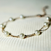 Free shipping Multi-layer pearl bracelet female fashion accessories