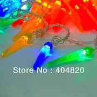 10M 60LED corn Decorative String Fairy Light Colorful Christmas holiday weding party light 220V EU Plug