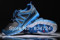 Free Shipping 2013 New Salomon Running Shoes Top Quality Brand Men Sneakers Genuine leather Sports Shoes Size 40-45