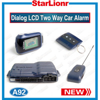 Factory Wholesales Security System Alarm Starline A92 With LCD Remote Engine Starter +Russian Version