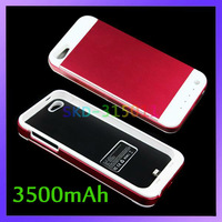 DC 5V 500mA Output 3500mAh Battery Bank Charger Case for iPhone 5 5G
