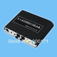 New 5.1 Audio Gear  Digital Audio Decoder DTS/AC-3/6CH Digital Audio converter