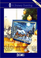 Free shipping cross-stitch embroidery kits beautiful scenery painting A snow evening
