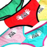 2014 new hot sale women sexy underwear; women's lovely cotton briefs;  panties & lingerie;secret calcinha ; pink VS