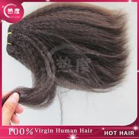 Hot Hair Factory Yaki  Kinky Straight Indian Virgin Remy Hair Weft-Tangle,Shedding Free