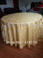 free shipping cheap round tablecloths   jacquard table cloth  for events