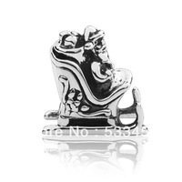 European Charm Santa Sleigh DIY Making Fits All Brands European Charm Lines Wholesale Hot Sell