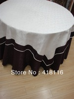 free shipping wedding tablecloth   jacquard table cloth  for events