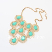 Europe&America fashion precious stone necjlace  wholesale free shipping