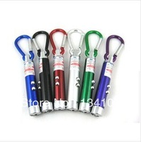 Hot! Free Shipping 10 pcs for one pack Mini LED Flashlight Carabiner Torch Clip Key keychain Hiking Camping Sporting Mounting