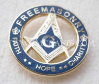 Free shipping, FREEMASONARY pin, lapel pin