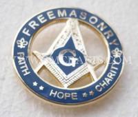 Free shipping, FREEMASONRY pin, lapel pin