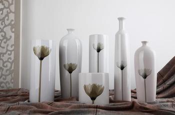 Ceramic colored drawing vase soft decoration supplies living room tv cabinet decoration