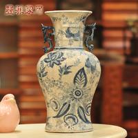 Chinese style ceramic vase crack quality fashion vintage flower reward bottle decoration