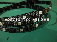 10M 2x 5M 5050 SMD WS2801 2801 Addressable 160 LED Black PCB Strip Light DC5V