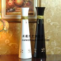 Gold carrick-bend modern fashion ceramic vase derlook large floor vase black white vase