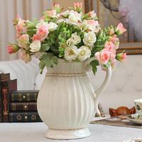 White ceramic fashion decoration vase decoration modern brief fashion flower holder