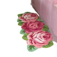Free shipping handmade 3 slitless rose art rug for  bedroom/bedside art carpet romantic rose 126*65cm