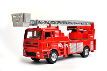 Alloy car models car model huayi hy ladder truck fire truck model toy