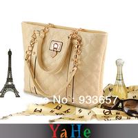 Fall 2013 Fashionable Women's Handbag Classical Lady Bag Luxury Plaid Chain Handbag Cleaver Clutch Sales and FreeShipping WB3002