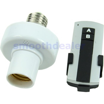 D192013 New E27 Screw Wireless Remote Control Light Lamp Bulb Holder Cap Socket Switch