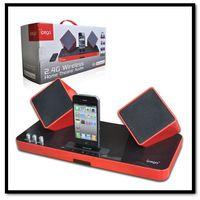 Brand Ipega 2.4G Wireless Home theater System Audio Speaker Amplifer+Charging Dock For Iphone&Ipad &Ipod&Smart Phones&PC&PS Vita