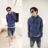 Brief individuality pullover sweatshirt william blue casual fashion napping fleeces ball