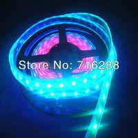 Free Shipping 5M 5050 SMD RGB 150 LED WS2811 IC WS2812B Individually Addressable Color Strip Light 5V Black PCB