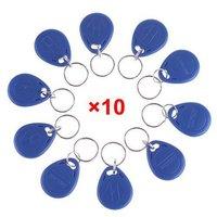 10x 125Khz Blue RFID Proximity Entry Lock ID Card Access Control Token Tags Key Keyfobs